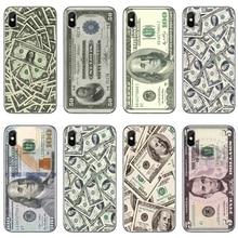 Para iPhone 11 pro XR X XS X Max 8 7 6 6s plus SE 5S 5c iPod Touch 5 6 funda funda dinero billetes efectivo Ben franela