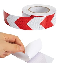 5cmx10m/Roll Reflective Tape Stickers Warning Sign Film For Truck