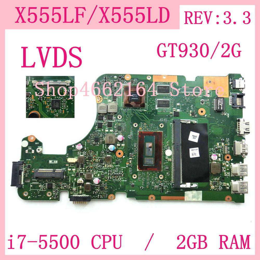 X555LF placa base GT930/2G i7-5500U 2GB RAM REV3.3 X555LF placa madre para Asus X555L X555LD X555LF X555LP W519L portátil placa base