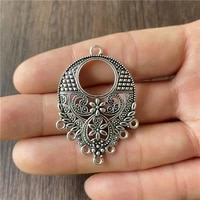 junkang 10pcs alloy water drop hollow flower pendant connection piece diy making necklace sweater chain jewelry accessories