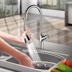 Torneira de cozinha 360 graus, torneira giratória graus ajustável, modo duplo, pulverizador, filtro, difusor, economia de água, bico, conector