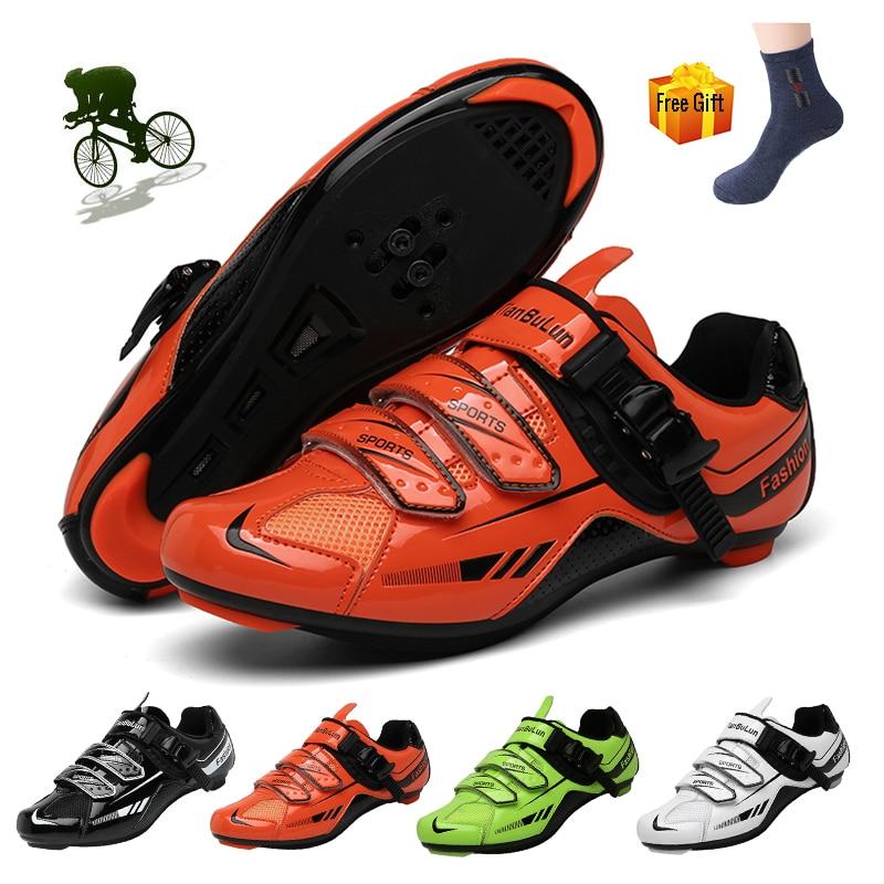 Zapatos de Ciclismo bicicleta de carretera Zapatillas de deporte profesional Mtb zapatos...