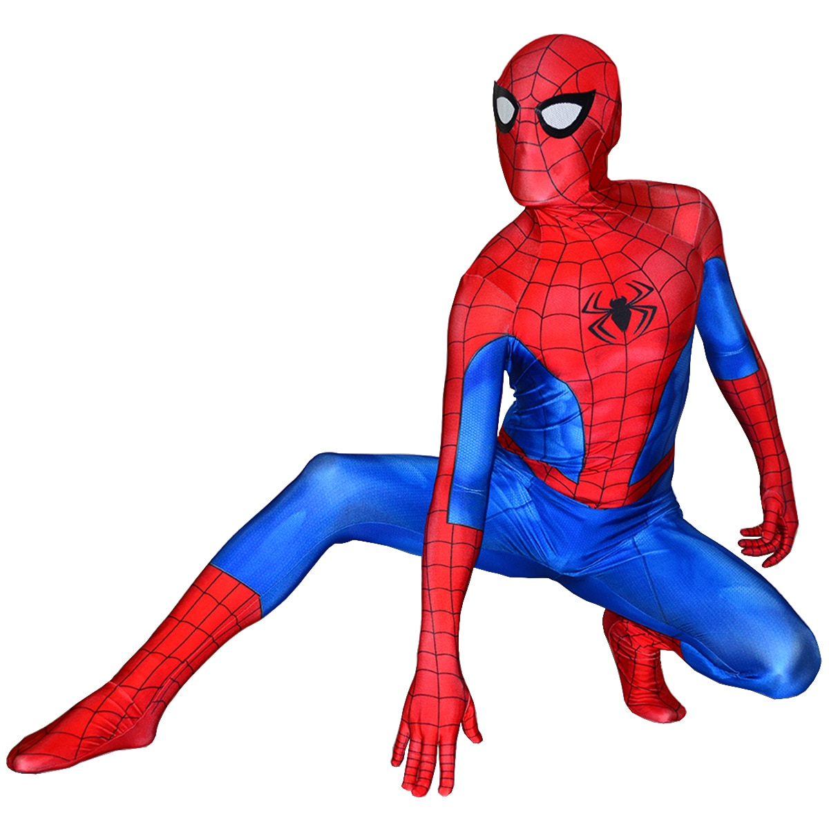 Novo ps4 spiderman traje elastano impresso ps4 clássico homem-aranha super-herói cosplay zentai terno festa de halloween bodysuit