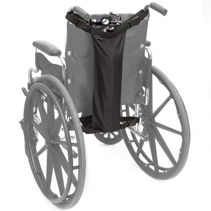 Cadeira de Rodas Bolsa do Cilindro Tanque à Prova Oxigênio Oxford Pano Portátil Bolsa Armazenamento Universal Roda Cadeira Dwaterproof Água Preto Pendurado ba