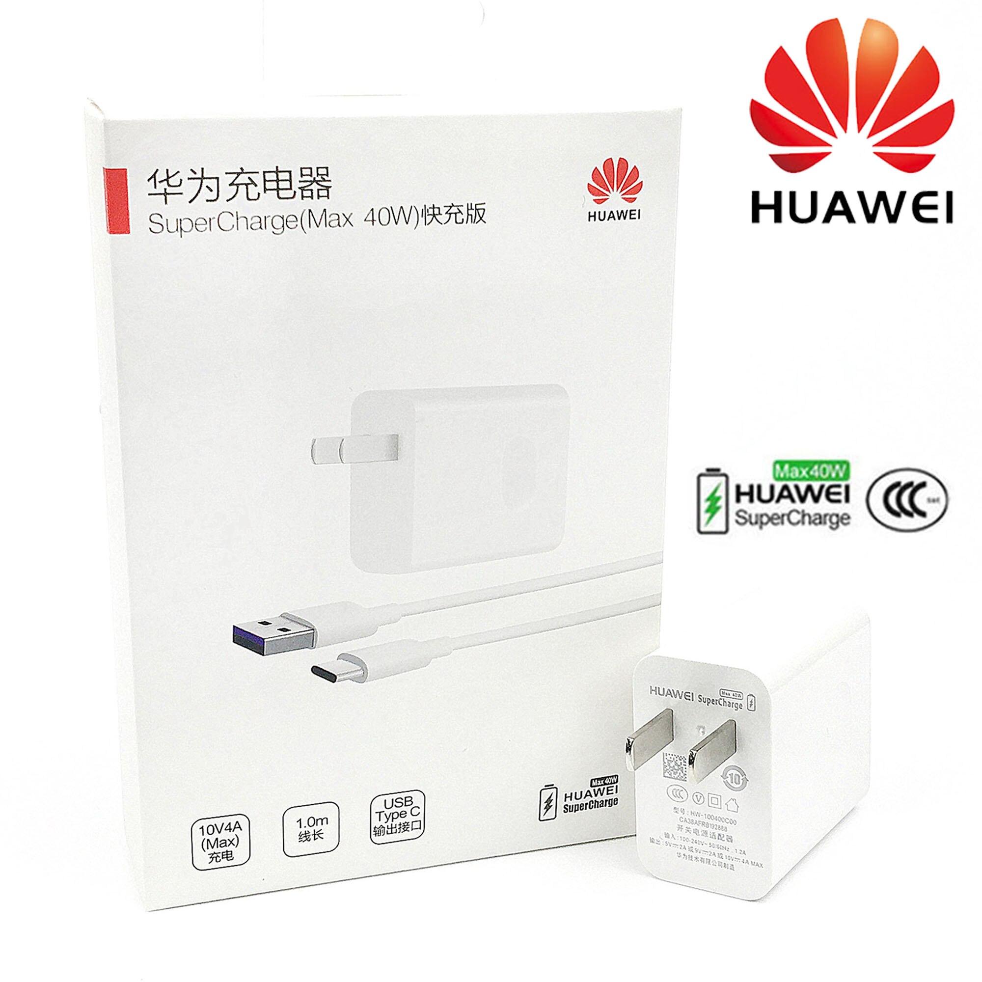 Huawei Super cargador 40W Original 10V4A rápido sobrecargar adaptador de Cable USB para p20 p30 pro mate 30x20 pro Honor Magic 2 Nova 5 6