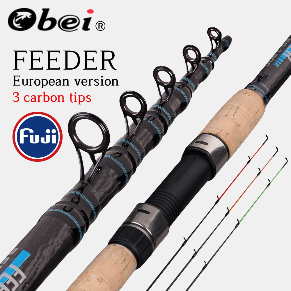 Obei Feeder Fishing Rod Telescopic Spinning Casting Travel Rod 3.0 3.3 3.6m Vara De Pesca Carp Feeder 60-180g Fuji Pole obei purista carp fishing rod carbon fiber fuji spinning rod pesca 3 5 3 0lb power 40 160g 3 60m hard pole surf rod