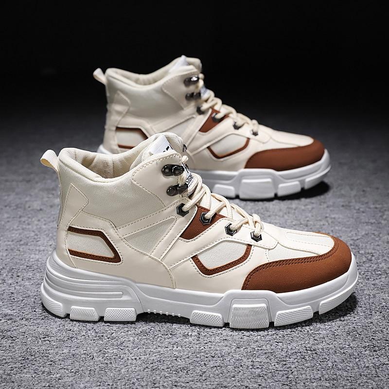 Casuais dos Homens Sapatos de Couro Casuais para Homem de Cuero Primavera Sapatos Causal Casuais Masculinos Tênis Esportivos Zapatos Masculino