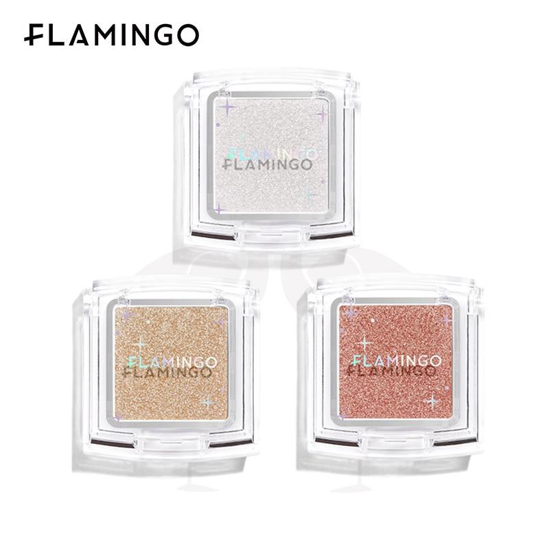 FLAMINGO Face Makeup High Light Glitter Cosmetic Face Powder Make-up Highlighter For Face Brighten D