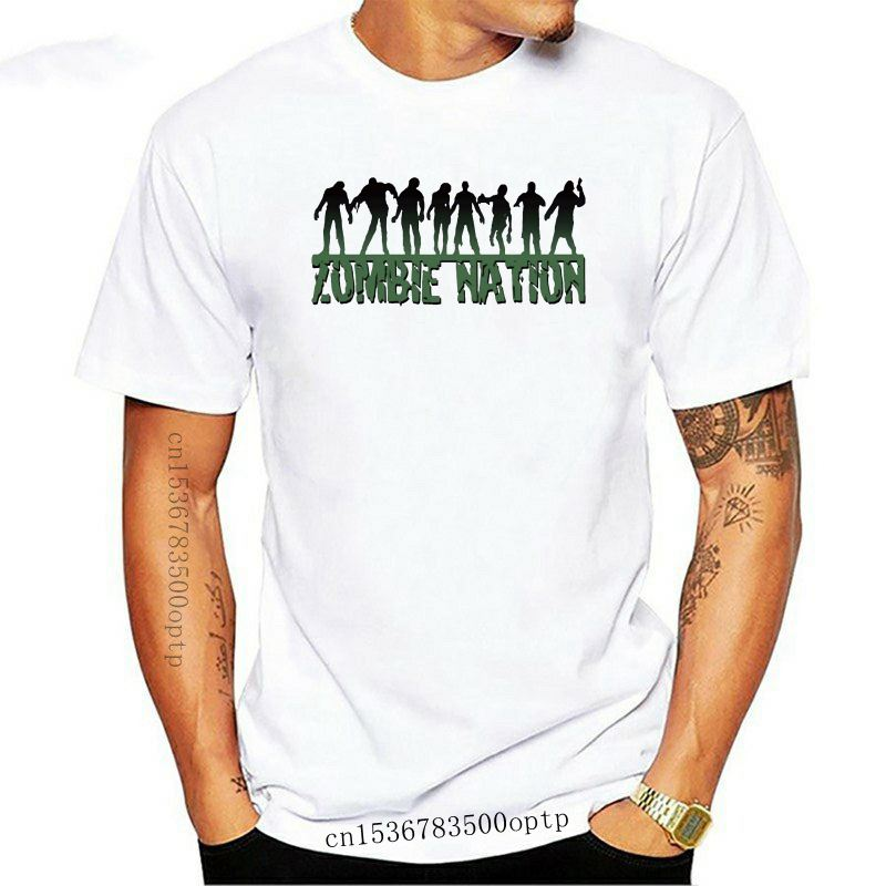 2021 Male Best Selling Zombie Nation Watch Out for The Brain Eaters! Funny Joke Men T Shirt Tee Summer Tee Shirt