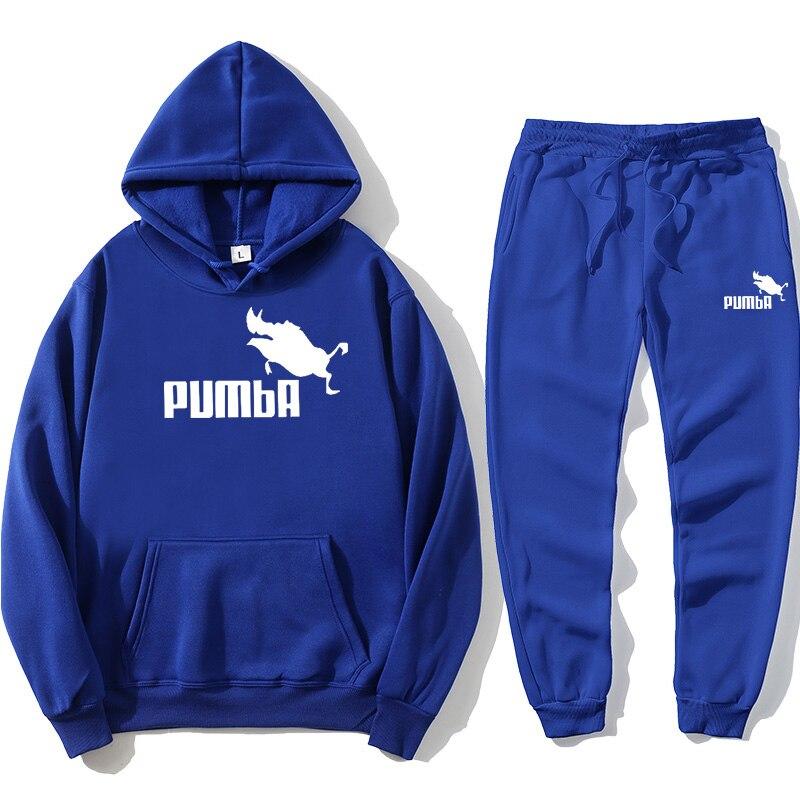 Новинка 2021, толстовка, мужская спортивная одежда, спортивная одежда Pumba, модная уличная одежда для отдыха, классная Милая одежда, толстовка, ...