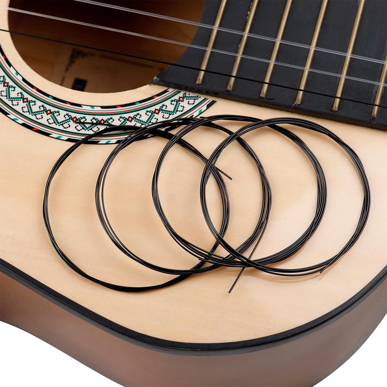100PCS Guitar Professional Nylon Black String for Classic Guitar E-1 DIY enlarge