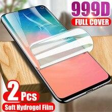 2 Pièces Hydrogel Film Protecteur Décran Pour Samsung Galaxy S10 S20 S9 S8 Note 8 9 10 Et 20 Ultra A51 A70 A50 A71 A40 A10 A80 Film