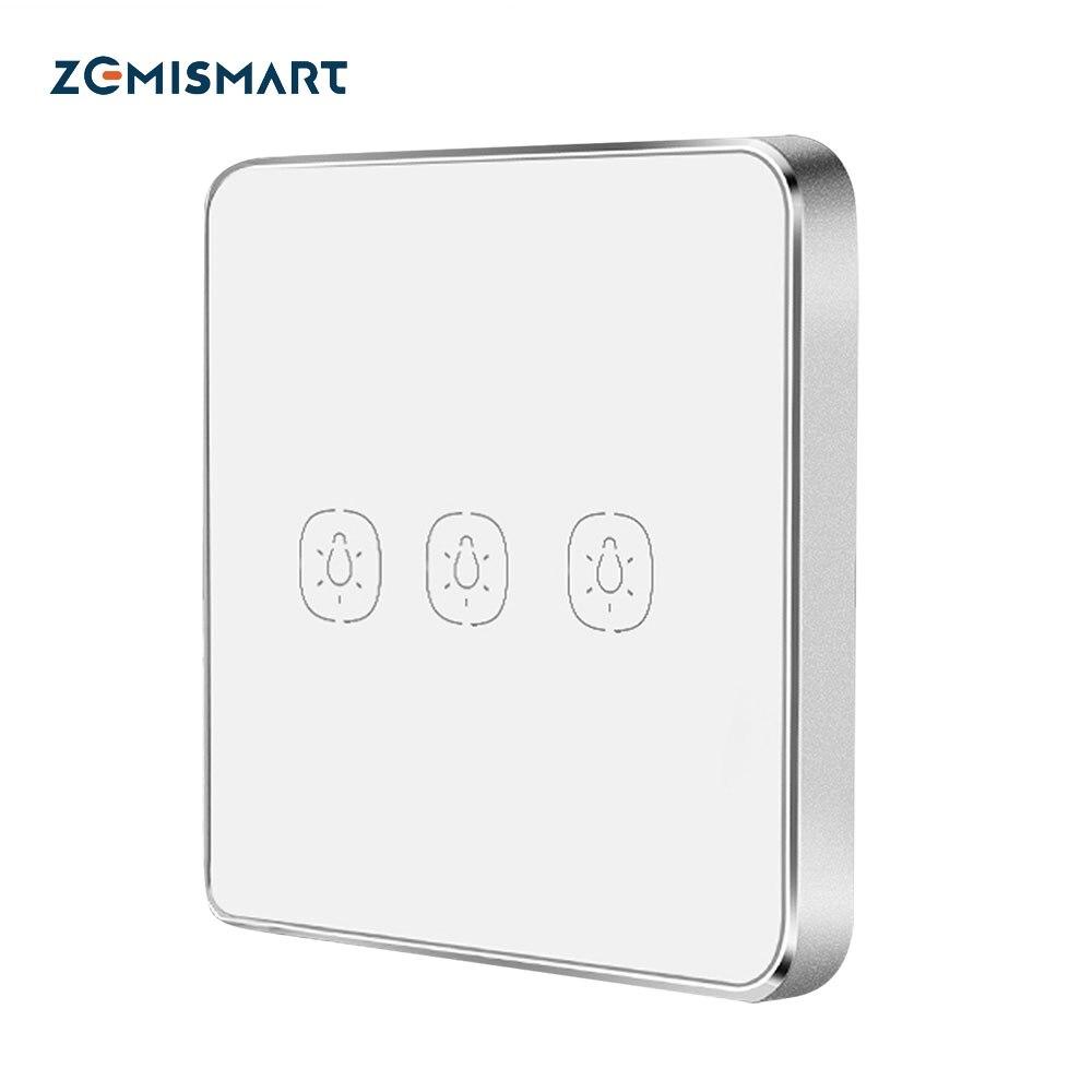 Zemismart – Interrupteur tactile 1 2 3,sans fil, pour hub Tuya, commutateur autocollant