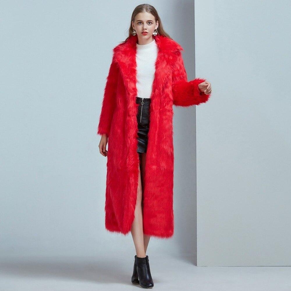 Abrigo de piel de marca de lujo de Invierno para Mujer, abrigos...