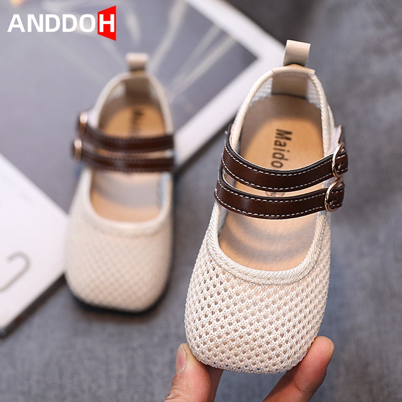 Size 22-31 Baby Breathable Soft Bottom Princess Shoes Children Wear-resistant Casual Sandals Girls Hook Loop Non-slip Sandals