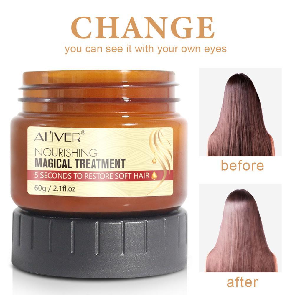 60ML mágico tratamiento máscara 5 segundo repara el daño restaurar el cabello...