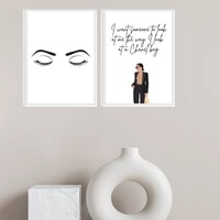 minimalist fashion girl posters quote print eyes girly canvas painting inspiration wall art pictures for beauty woman room decor