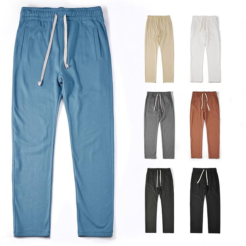 Мужские повседневные спортивные штаны akкады Kuti, хлопковые свободные джоггеры, спортивные штаны для спортзала, мужские брюки с карманами на ...