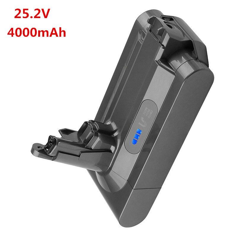 4000mAh 25,2 V 4.0Ah batería recargable de iones de litio para Dyson V10 absoluto V10 mullido cyclone V10 Motorhead dv12 batería de litio