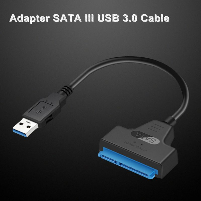 USB portátil 3,0/2,0/Tipo C a 2,5 pulgadas con luz LED, disco duro SATA, Cable Adaptador convertidor para HDD/SSD de 2,5 pulgadas