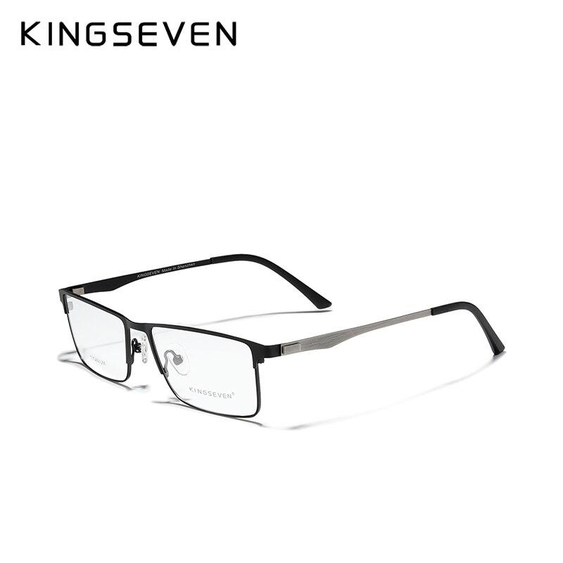 KINGSEVEN Titanium Alloy Optical Glasses Frame Men 2020 Square Support Custom Prescription Lenses1.5