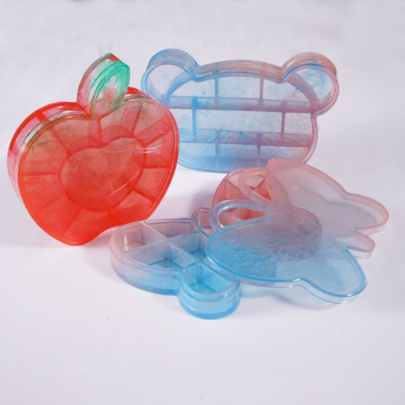 Diy Trinket Box Silicone Mold Butterfly Bear Dish Mold Tray Mold Kawaii Epoxy Resin Art Supplies Resin Craf Silicone Mold