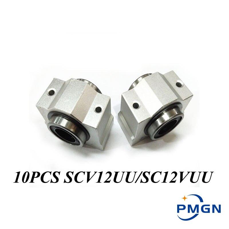 10 قطعة/الوحدة SC12VUU SC12V SCV12UU 12 مللي متر عالية الجودة CNC وسادة كتلة الشرائح الخطية ل CNC راوتر XYZ الجدول 12 مللي متر تحمل جلبة