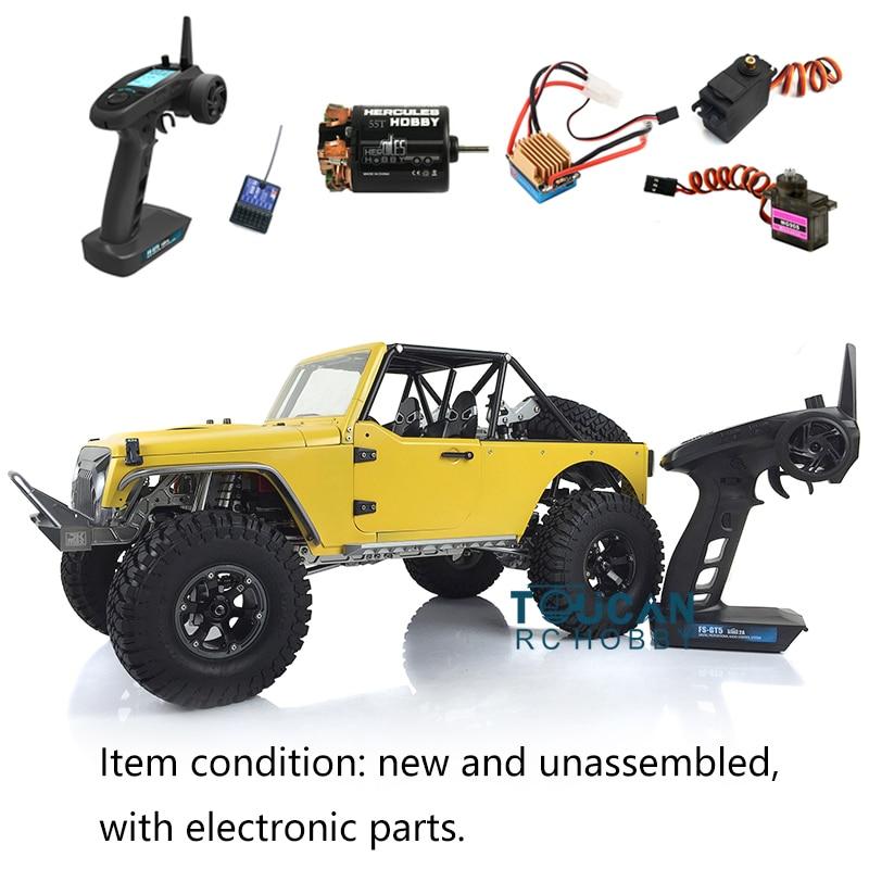 Capo JKMAX Crawler KIT-E Painted Modell Metall Chassis Mit FS-GT5 Radio ESC Motor Servo THZH0170