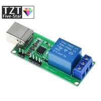 TZT Smart Electronics DC 5V USB Relay 1CH 1 Channel Programmable Computer Control For Smart Home Controller Relay Module Board