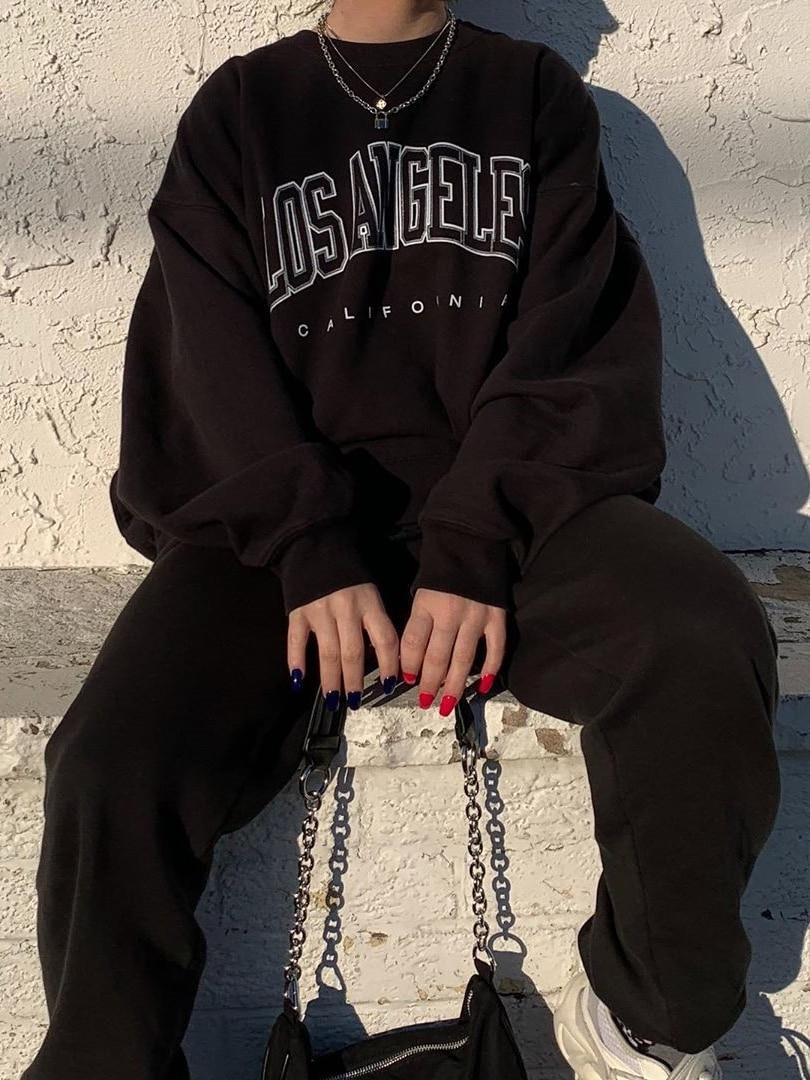 Thin Letter Print Pullovers Women Hoodies Long Sleeve Loose Summer Casual Woman Sweatshirt 2021 Fashion Hoodies For Women