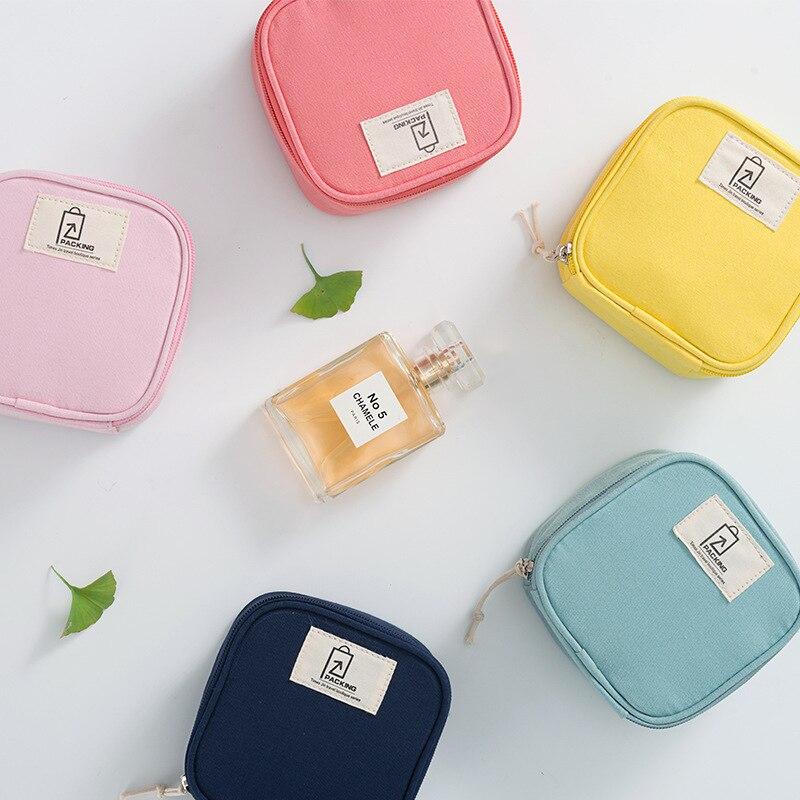 Косметичка-органайзер для мелких вещей, гигиенические полотенца, дорожные сумки для женщин, небольшая косметичка для путешествий, сумки дл...