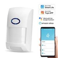 1-8pcs WiFi Infrarot Detektoren PIR Motion Sensor Alarm Fur Tuya Smart Leben APP Intelligente Automation Arbeit Mit alexa Google Hause