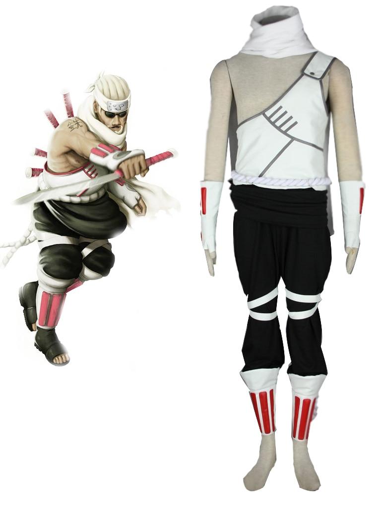 Disfraz de Cosplay de Anime japonés Naruto Killer Bee fiesta de Navidad de Halloween