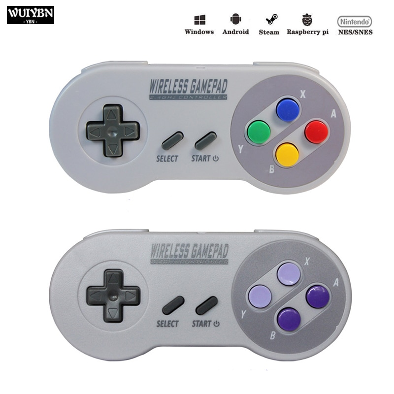 Wireless Gamepad 2.4GHZ Joystick For NES/SNES Super Nintendo Classic PC Android Raspberry Wireless USB Controller data frog usb wired gaming joystick gamepad for nintendo snes