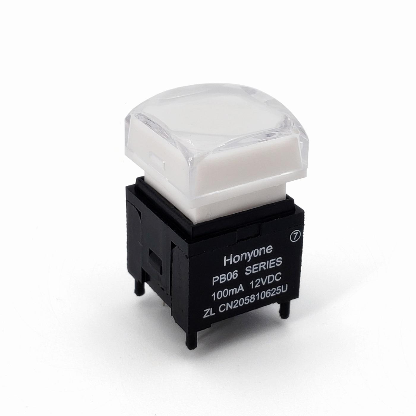 Quadrado 15*15mm da série de PB06-B com interruptor momentâneo do botão do pwb do auto-retorno de spst do diodo emissor de luz para o processador video