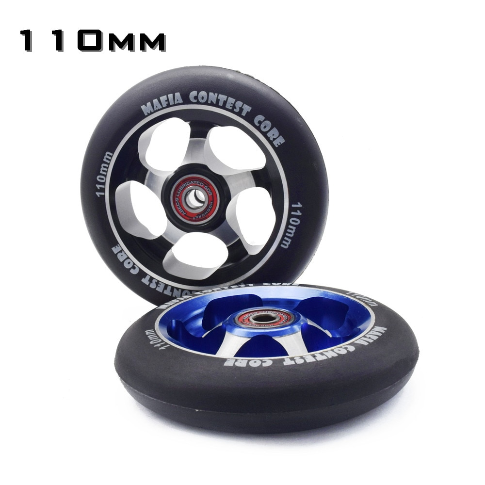 【100mm 110mm】 【88A】MGP branded wheel High precision aluminium alloy Hub inline scooter wheel heavy speed roller with ABEC-9