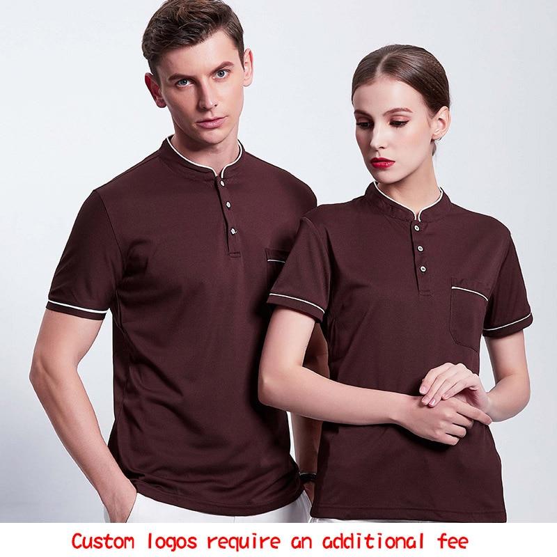 Niestandardowa odzież do pracy z Logo haft koszulka Polo mundur dla restauracji i hotelu