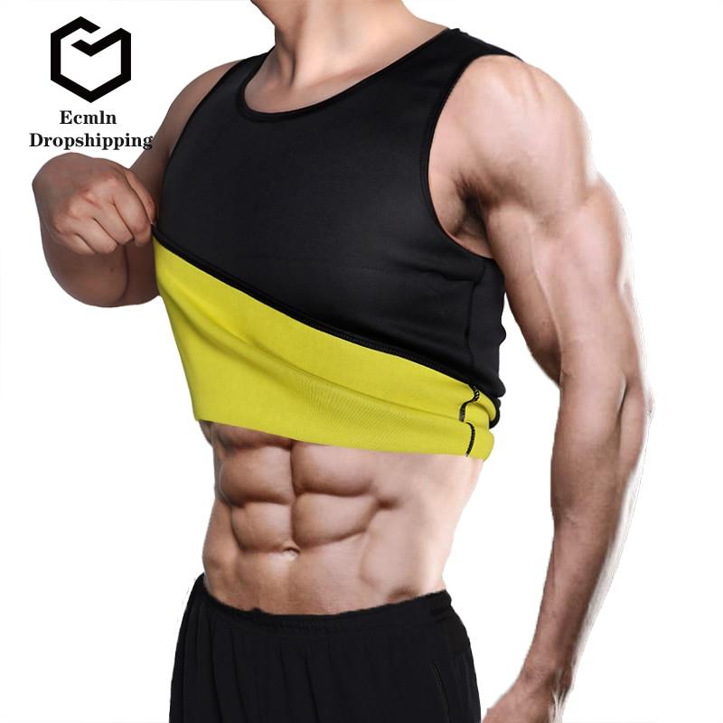 Dropshipping Slimming Belt Belly Men Slimming Vest Body Shaper Neoprene Abdomen Fat Burning Shapewear Waist Sweat Corset