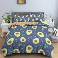 avocado bedding set queen full king single size children cartoon duvet cover bedclothes nordic bed cover for home