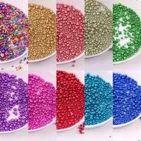 10gpack 0 6 3mm rainbow mini caviar glass beads plated metallic colors 3d nail rhinestone beads no hole for nail art decoration
