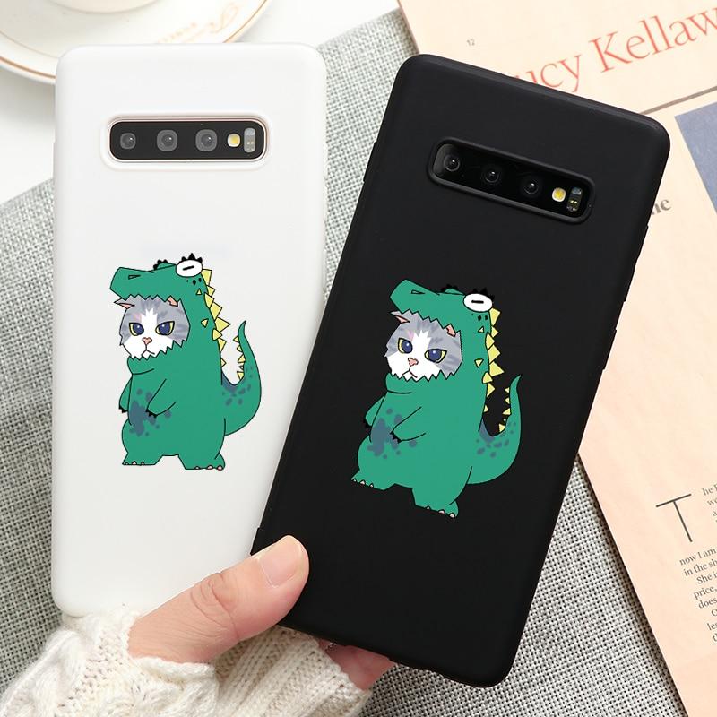 Cute Cartoon Dinosaur Print Case For Samsung Galaxy A20S A30 A40 A50 A30S A50S A60 A70 A51 A71 M30S S6 S7 Edge S8 S9 Plus Covers