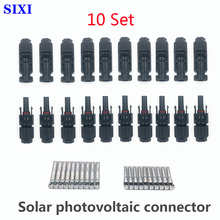 10 Sets Of Solar Connector Photovoltaic Branch Connector 30A DC1000V Solar Photovoltaic Panel IP67 Waterproof Connector