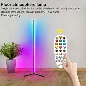 RGB Symphony Remote Atmosphere Floor Lamp Bedroom Corner Bluetooth Three Section Detachable LED Rod Modern Simple Standing Lamp