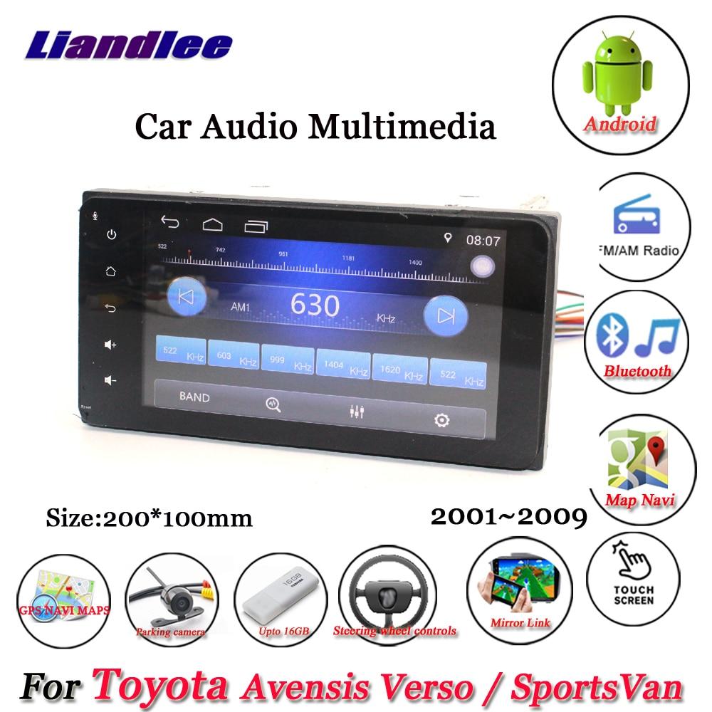 Автомобильный мультимедийный плеер, Android плеер Carplay для Toyota Avensis Verso / SportsVan 2001-2009