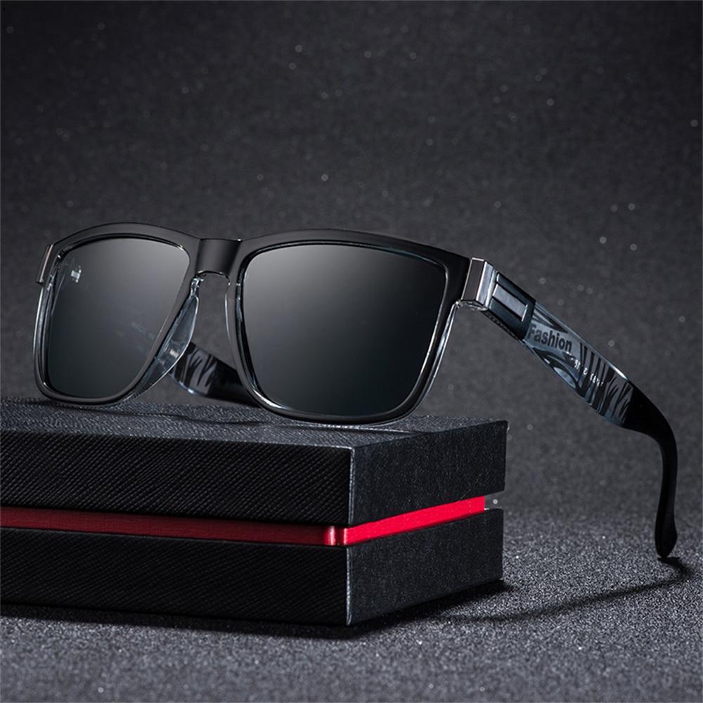 Солнцезащитные очки поляризационные UV400 Мужские, авиаторы для вождения, недорогие Роскошные брендовые дизайнерские солнечные очки в ретро ...