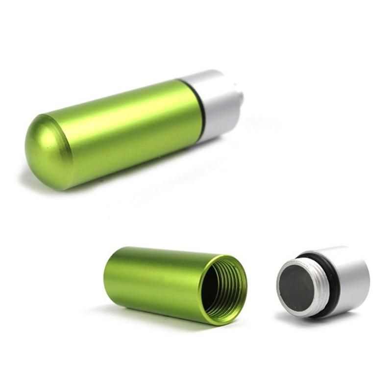 Nueva carcasa de aluminio resistente al agua, recipiente portátil con sellado Para cápsulas, depósito para botellas, herramienta EDC de supervivencia para emergencias al aire libre