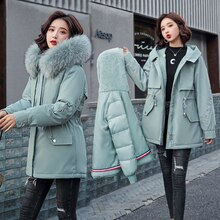 New winter jacket big fur collar women jacket parka coat one coat three wear plus velvet thick coat