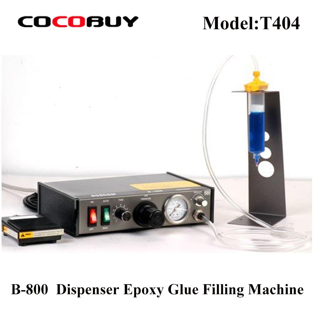 Novecel B-800 Semi-Auto Dispenser Adhesive Liquid Glue Dispenser Epoxy Glue Filling Machine For Phone Frame PCB Solder Repairing