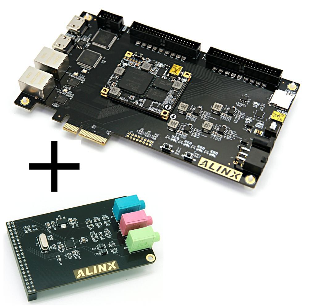 XILINX Artix-7 PCIe4 Placa de desarrollo FPGA A7 XC7A100T Ethernet HDMI ALINX marca (placa + Módulo de Audio)