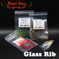 royalsissi new 3metersbag robust glass ribs transparent segmented body wrap lace bigger buzzers glassy body fly tying materials